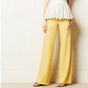 Anthropologie Pilcro | Yellow Linen Blend Pants